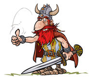 Cartoon Viking warrior. Royalty Free Stock Photos