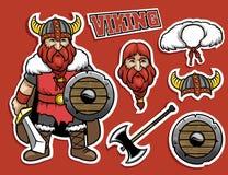 Cartoon of viking warrior Royalty Free Stock Image