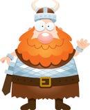 Cartoon Viking Waving Stock Photography