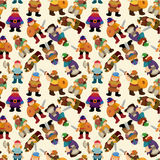 Cartoon vikings pirate seamless pattern Royalty Free Stock Image