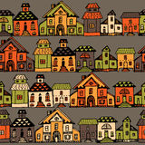 Cartoon village streets in vector. Royalty Free Stock Photography