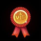 Cartoon VIP Red Award Ribbons, gold medal Royalty Free Stock Photos