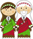 Cartoon Virgin Mary and Joseph Royalty Free Stock Images