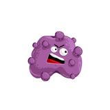 Cartoon virus character vector. Illustration on white background. Cute fly germ virus infection vector character. Funny micro bacteria character vector illustration