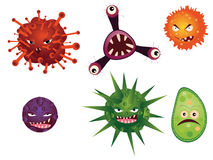 Cartoon Viruses Royalty Free Stock Images