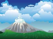 Cartoon Volcano Island Stock Photos