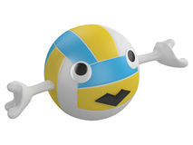 Cartoon volley ball Stock Images