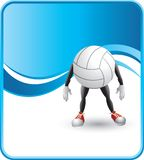 Cartoon volleyball. Cartoon figure of a volleyball Royalty Free Stock Photography