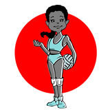 Cartoon of Volleyball girl or young woman Stock Images