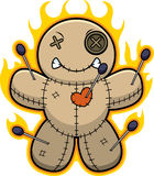 Cartoon Voodoo Doll Flames Royalty Free Stock Image