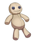 Cartoon voodoo doll Royalty Free Stock Image