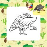 Cartoon vulture. Coloring page Royalty Free Stock Photo