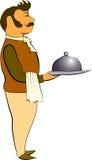 Cartoon waiter Stock Photo