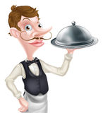 Cartoon Waiter Royalty Free Stock Photo