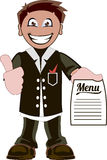 Cartoon waiter Stock Photo