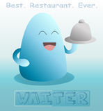 Cartoon waiter vector illustration Stock Image