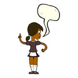 Cartoon waitress calling order with speech bubble Royalty Free Stock Image