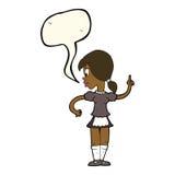 Cartoon waitress calling order with speech bubble Royalty Free Stock Photo