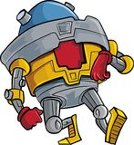 Cartoon walking robot toy. Cartoon walking robot. Isolated on white Stock Photo