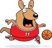 Cartoon Wallaby Basketball. A cartoon illustration of a wallaby playing basketball Royalty Free Stock Image