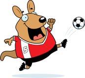 Cartoon Wallaby Soccer Kick. A cartoon illustration of a wallaby kicking a soccer ball Royalty Free Stock Photos