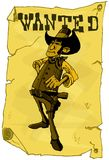 Cartoon wanted poster of a cowboy Stock Photo
