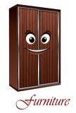 Cartoon wardrobe character Stock Image
