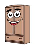 Cartoon wardrobe furniture character Royalty Free Stock Photos