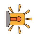 Cartoon warning alarm alert security system work design. Vector illustration eps 10 Stock Image
