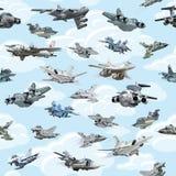 Cartoon warplanes seamless pattern Royalty Free Stock Image