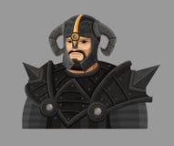 Cartoon warrior in armor Royalty Free Stock Photos