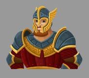 Cartoon warrior in armor Royalty Free Stock Photo