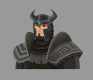 Cartoon warrior in armor Royalty Free Stock Images