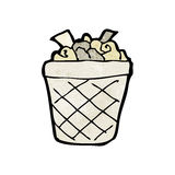 Cartoon waste paper basket Stock Photography