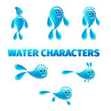 Cartoon water characters Royalty Free Stock Photo