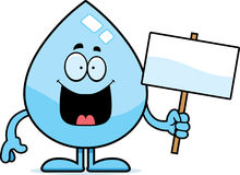 Cartoon Water Drop Sign Royalty Free Stock Image