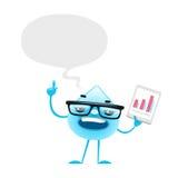 Cartoon Water Drop Speech Royalty Free Stock Images