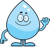Cartoon Water Drop Waving Stock Photos