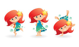 Cartoon water elf Stock Images