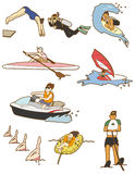 Cartoon water sport icon Royalty Free Stock Images