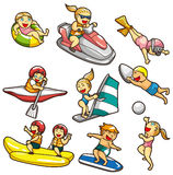 Cartoon water sport icon Royalty Free Stock Photos