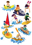 Cartoon water sport icon Stock Photo