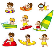 Cartoon water sport icon Stock Image