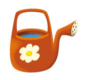 Cartoon watering can - illustration for the children Stock Image