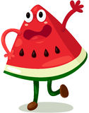 Cartoon watermellon Stock Photos