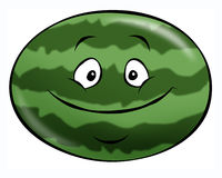 Cartoon Watermelon. A cheerful cartoon watermelon. A perfect summer snack Royalty Free Stock Photography
