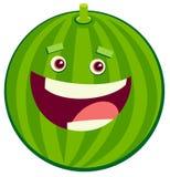Cartoon watermelon fruit character. Cartoon Illustration of Watermelon Fruit Food Object Character Royalty Free Stock Image