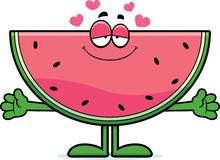 Cartoon Watermelon Hug Stock Photo