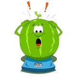 Cartoon watermelon Stock Images