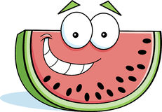Cartoon watermelon. Cartoon illustration of a smiling slice of watermelon Stock Photography
